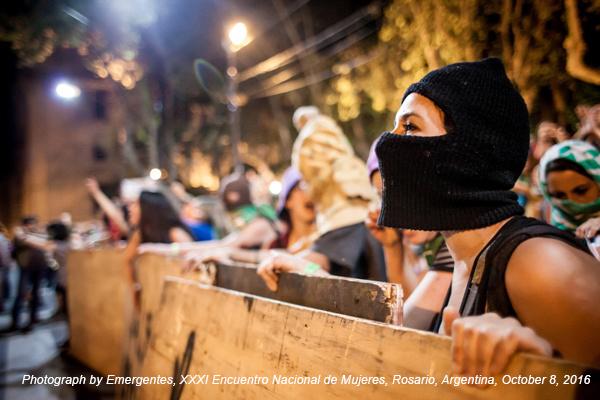 Emergencies, XXXI Encuentro Nacional de Mujeres, Rosario, Argentina, October 8, 2016